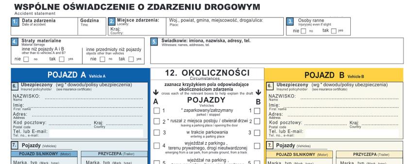 polskie biuro ubezpieczycieli komunikacyjnych accident statement form